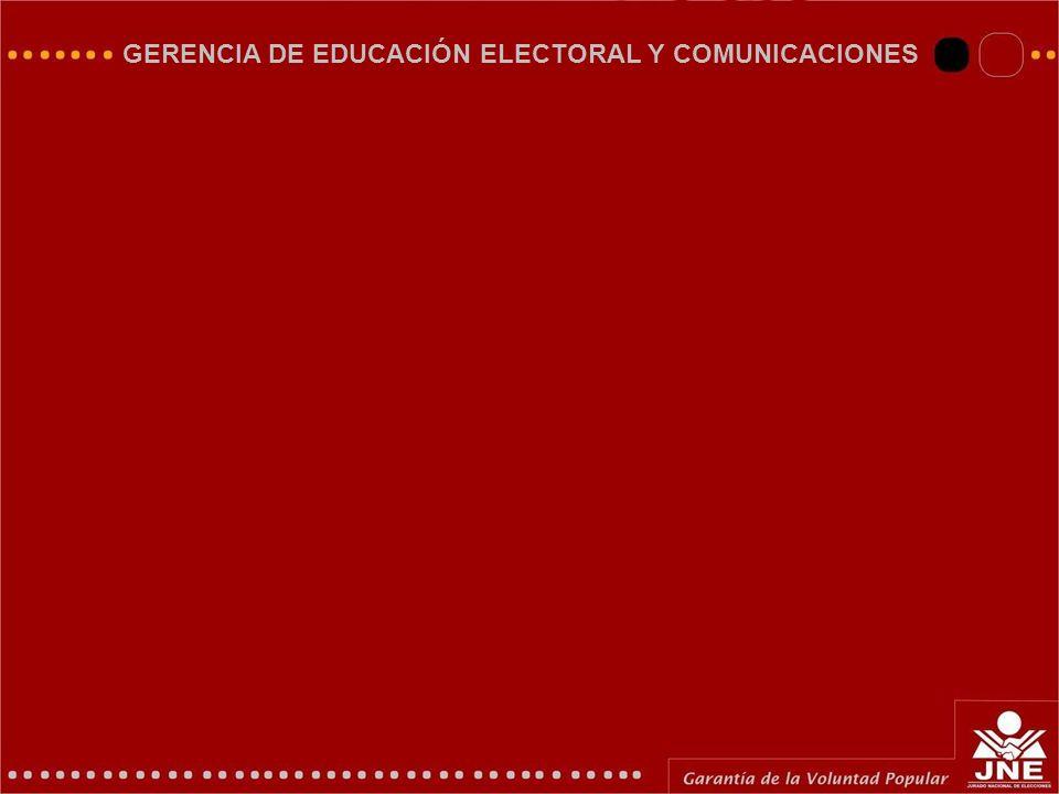 GERENCIA DE EDUCACIÓN ELECTORAL Y COMUNICACIONES