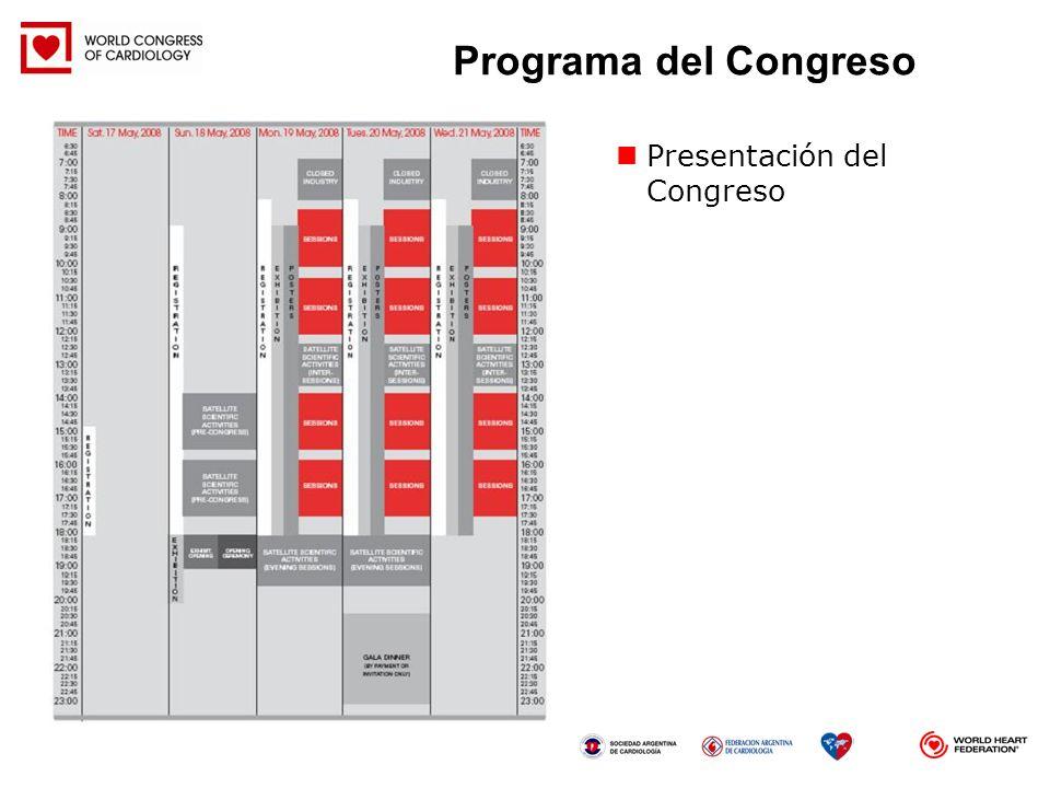 Presentación del Congreso Programa del Congreso