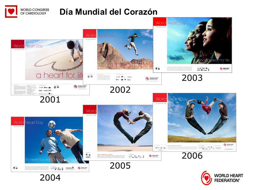 2002 2003 2001 2004 2005 2006 Día Mundial del Corazón