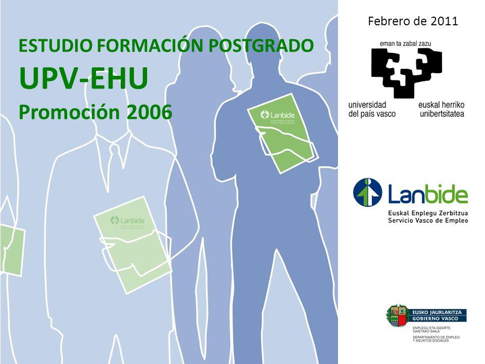 ESTUDIO FORMACIÓN POSTGRADO UPV-EHU Promoción 2006 Febrero de 2011