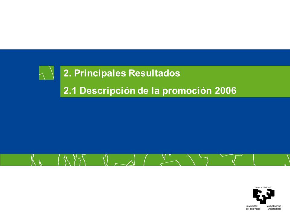 2.1 Descripción de la promoción 2006