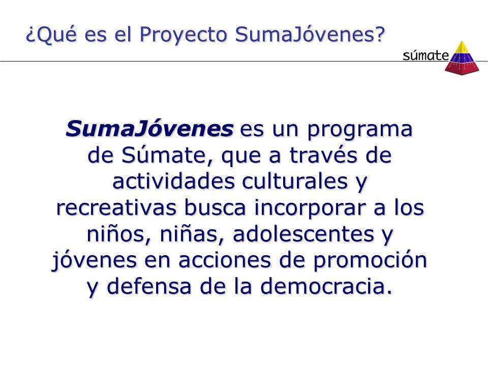 ¿Qué es el Proyecto SumaJóvenes.