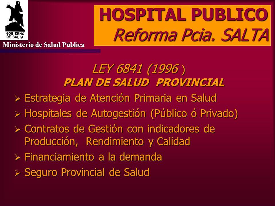 HOSPITAL PUBLICO Reforma Oñativia (1965) Descentralización administrativo-financiera Autogobierno a través de Consejo de Administración Ente de Derech