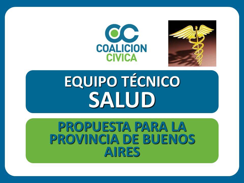 GARANTIZAR LA ATENCION DEL PROCESO SALUD-ENFERMEDAD DE TODOS LOS HABITANTES DE LA PROVINCIA OBJETIVO 100 Propuestas para cambiar la PROVINCIA