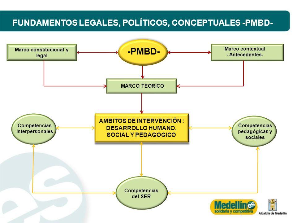 MARCO TEORICO AMBITOS DE INTERVENCIÓN : DESARROLLO HUMANO, SOCIAL Y PEDAGOGICO AMBITOS DE INTERVENCIÓN : DESARROLLO HUMANO, SOCIAL Y PEDAGOGICO Compet