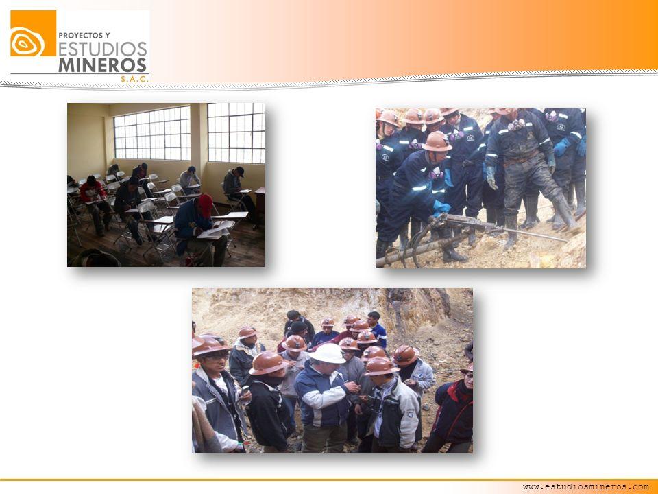 www.estudiosmineros.com Principales Cursos Desarrollados Planeamiento de Minado para Minería subterránea en momentos de crisis desarrollado entre el 25 al 27 de Noviembre del 2008 Lima.