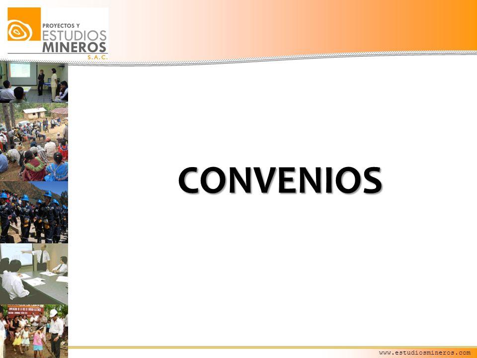 www.estudiosmineros.com CONVENIOS
