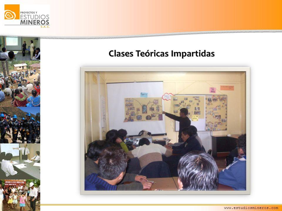 www.estudiosmineros.com Clases Teóricas Impartidas