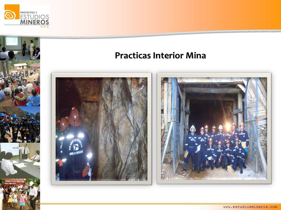 www.estudiosmineros.com Practicas Interior Mina