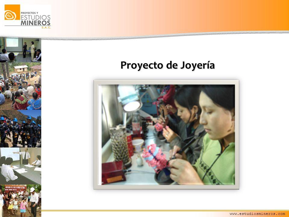 www.estudiosmineros.com Proyecto de Joyería