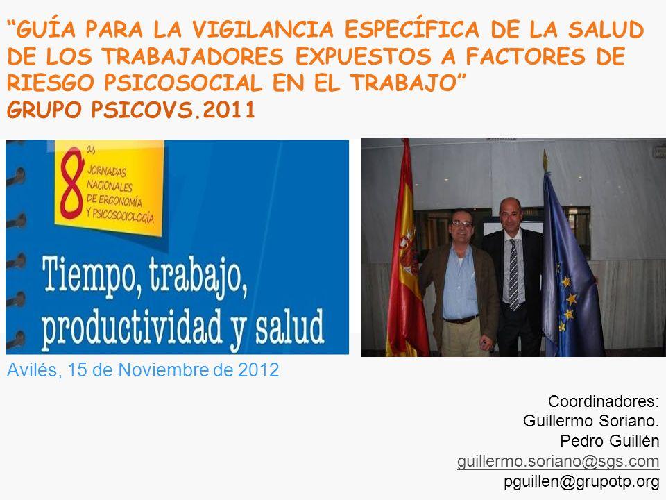 Índice GUÍA PSICOVS.2011 1.- INTRODUCCIÓN 2.- OBJETIVOS Y CRITERIOS DE APLICACIÓN 2.1.