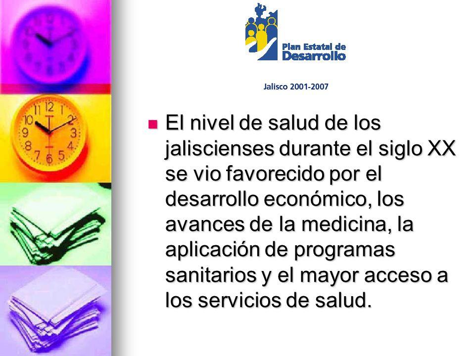El nivel de salud de los jaliscienses durante el siglo XX se vio favorecido por el desarrollo económico, los avances de la medicina, la aplicación de