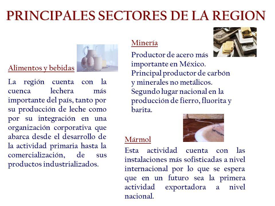 Alimentos y bebidas La región cuenta con la cuenca lechera más importante del país, tanto por su producción de leche como por su integración en una organización corporativa que abarca desde el desarrollo de la actividad primaria hasta la comercialización, de sus productos industrializados.