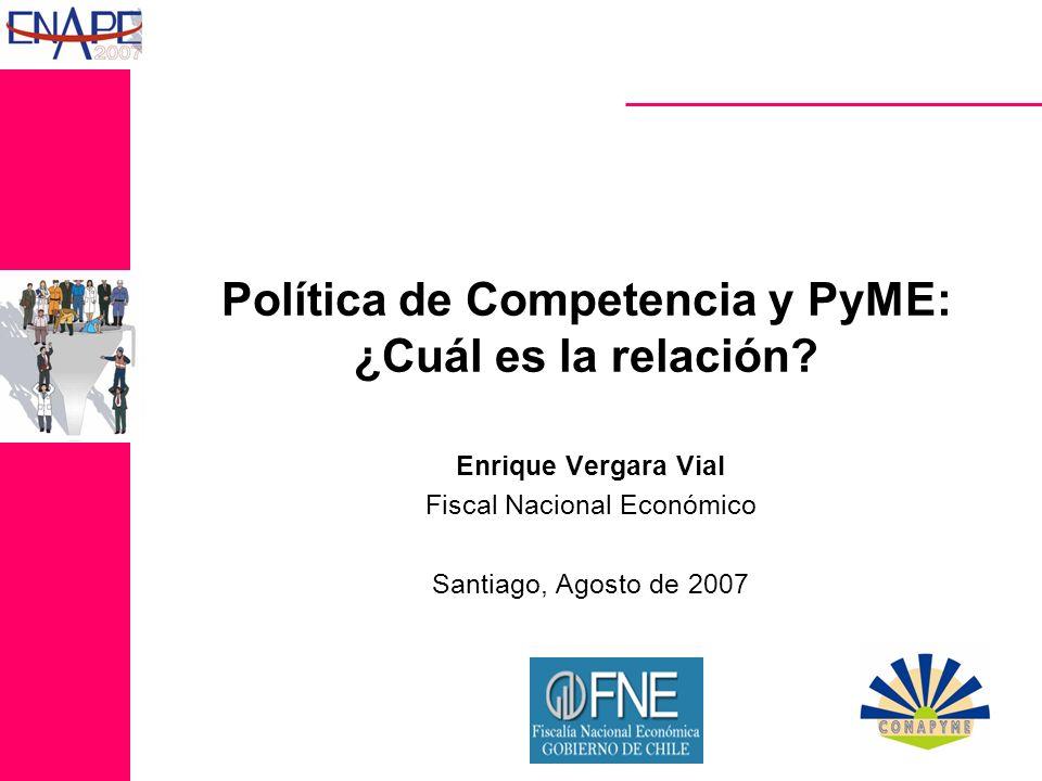 TEMARIO I.Antecedentes II.Política de Competencia y PyME III.Las PyME y su relación asimétrica con grandes empresas IV.El caso del mercado de aprovisionamiento para supermercados V.Conclusiones