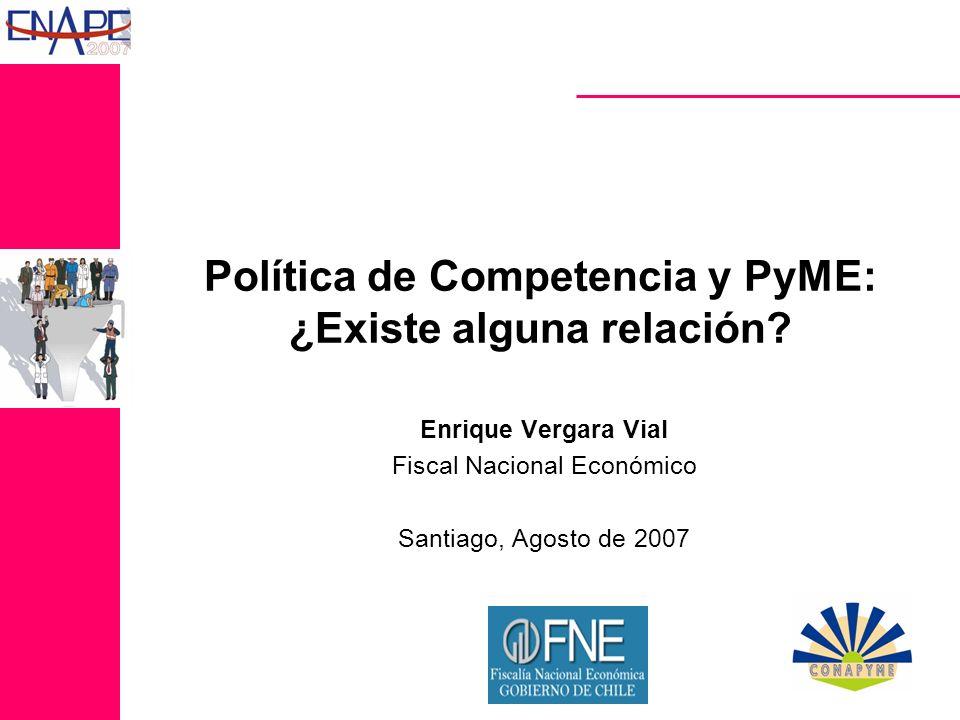 Política de Competencia y PyME: ¿Existe alguna relación.