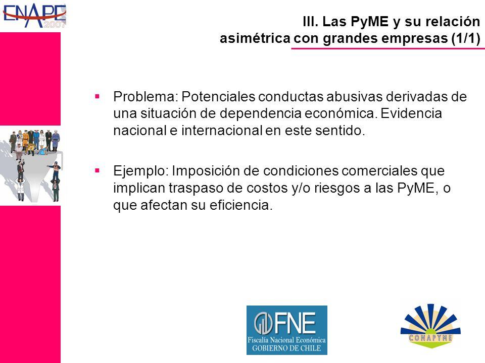 Problema: Potenciales conductas abusivas derivadas de una situación de dependencia económica.