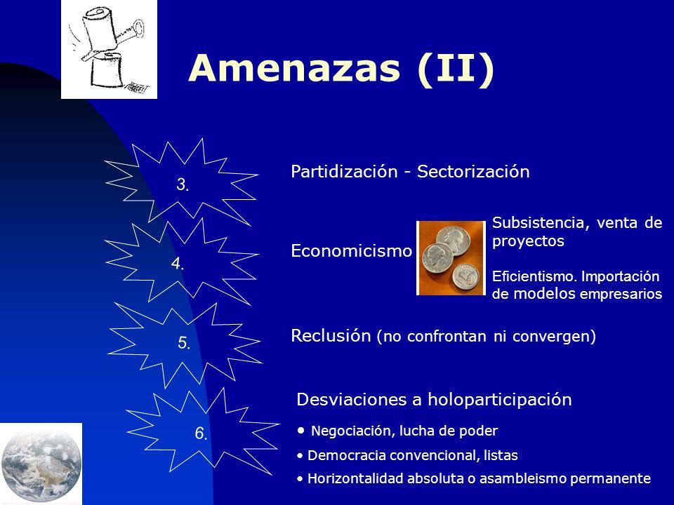 Amenazas (I) 1.