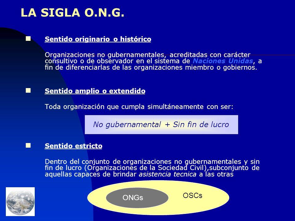 Organizaciones de la Sociedad Civil y ONGs