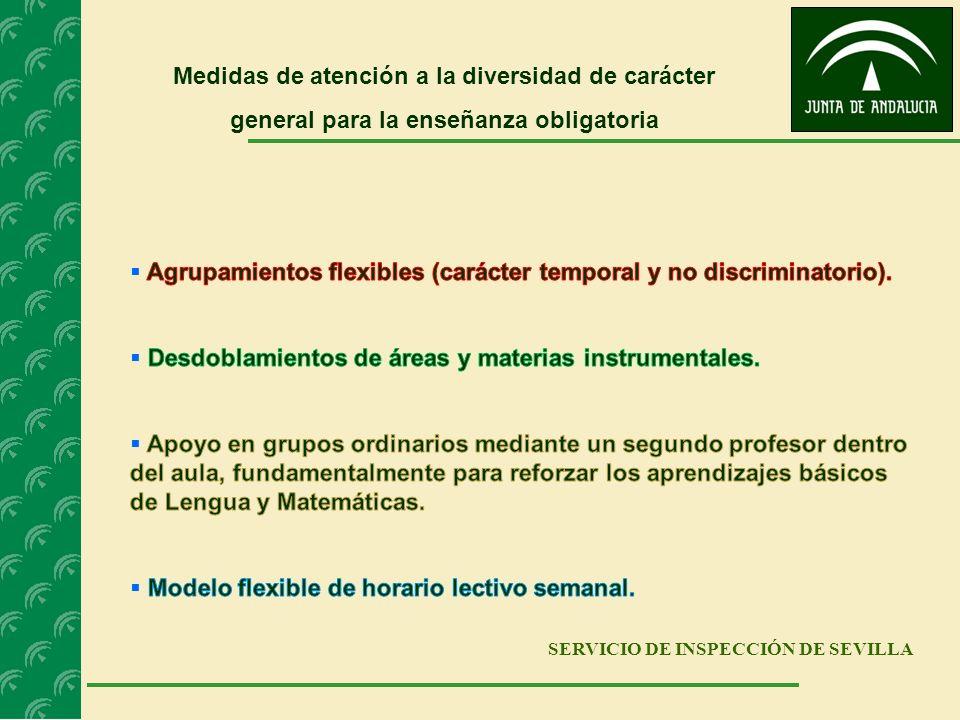 SERVICIO DE INSPECCIÓN DE SEVILLA Medidas de atención a la diversidad de carácter general para la enseñanza obligatoria