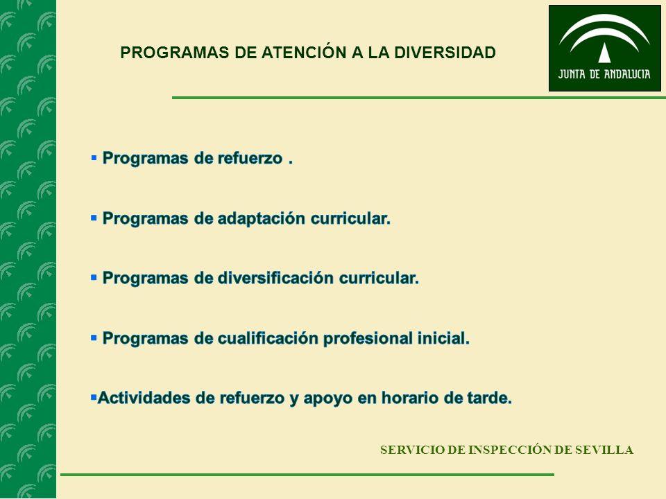 SERVICIO DE INSPECCIÓN DE SEVILLA PROGRAMAS DE ATENCIÓN A LA DIVERSIDAD
