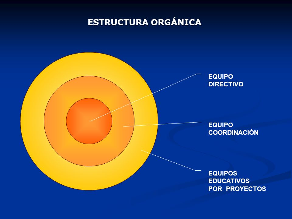 ESTRUCTURA O RGÁNICA EQUIPOS EDUCATIVOS POR PROYECTOS EQUIPO COORDINACIÓN EQUIPO DIRECTIVO