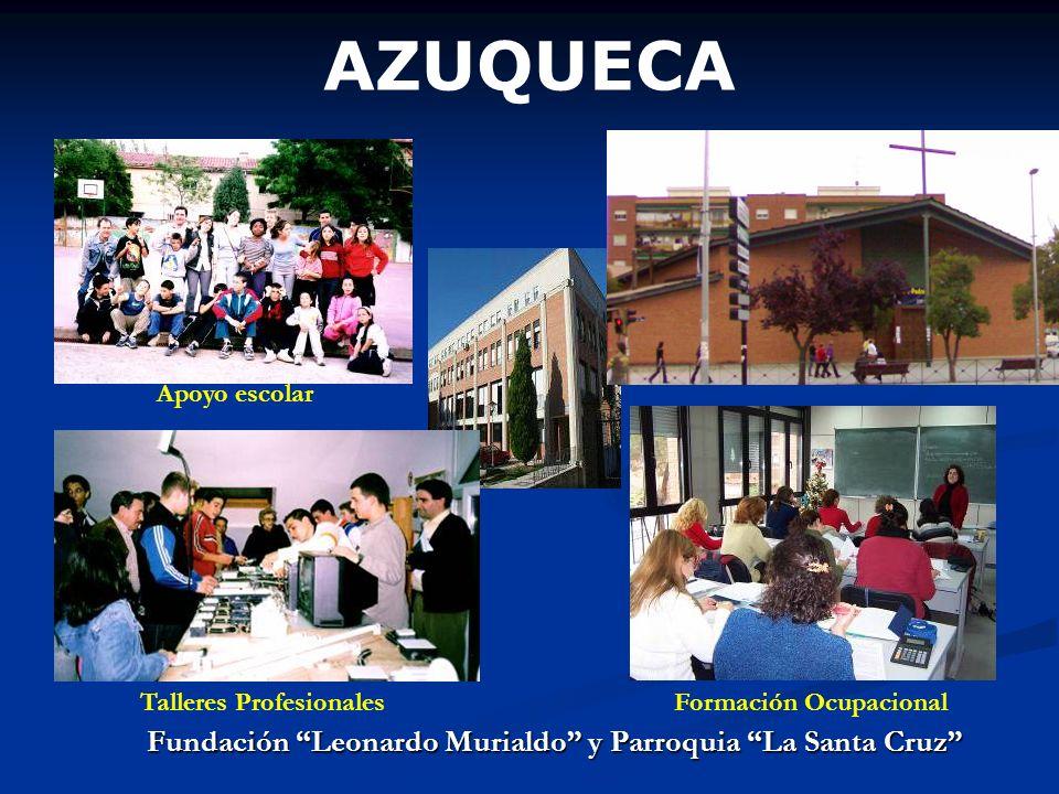 AZUQUECA Fundación Leonardo Murialdo y Parroquia La Santa Cruz Apoyo escolar Talleres ProfesionalesFormación Ocupacional