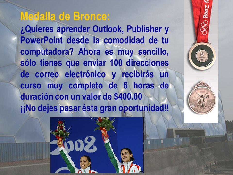 Medalla de Bronce: ¿Quieres aprender Outlook, Publisher y PowerPoint desde la comodidad de tu computadora.