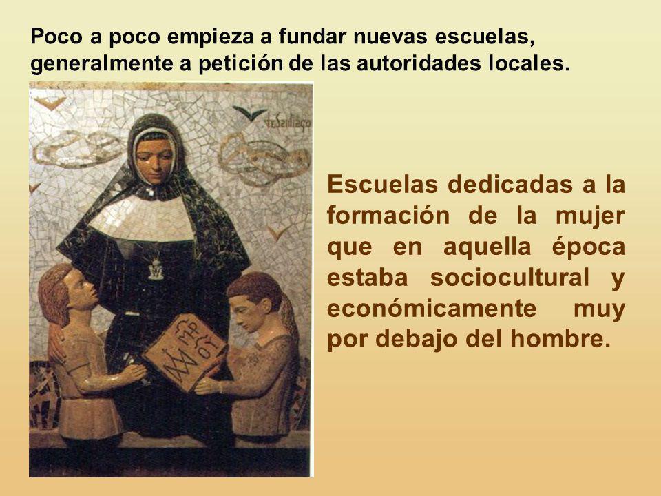 En Sabadell, ayudada por los PP. Escolapios, el 2 de febrero de 1847, ella y sus primeras compañeras profesan como Hijas de María, Escolapias. Allí ha