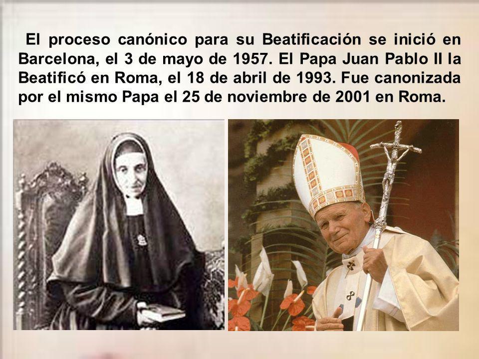 A su muerte, la Congregación de Hijas de María, Religiosas de las Escuelas Pías, por ella fundada, la formaban 346 Escolapias, que ejercitaban el cari