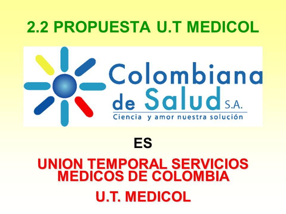 2.2 PROPUESTA U.T MEDICOL ES UNION TEMPORAL SERVICIOS MEDICOS DE COLOMBIA U.T. MEDICOL