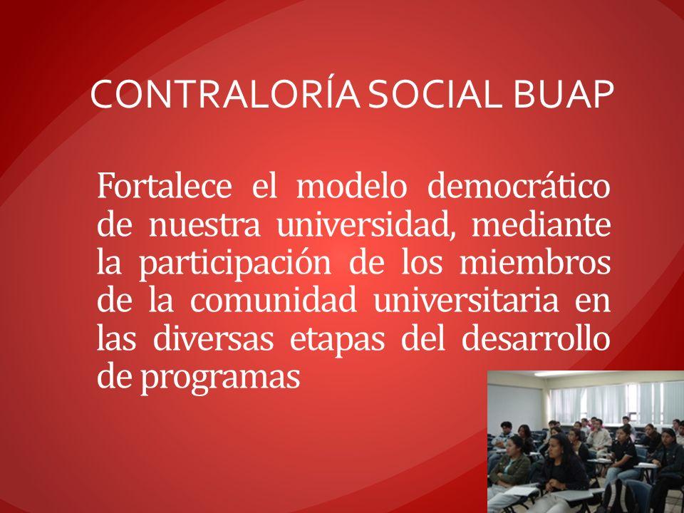 Fortalece el modelo democrático de nuestra universidad, mediante la participación de los miembros de la comunidad universitaria en las diversas etapas