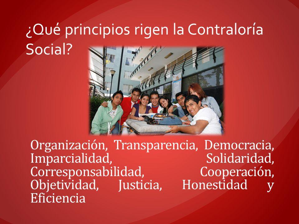 Organización, Transparencia, Democracia, Imparcialidad, Solidaridad, Corresponsabilidad, Cooperación, Objetividad, Justicia, Honestidad y Eficiencia ¿