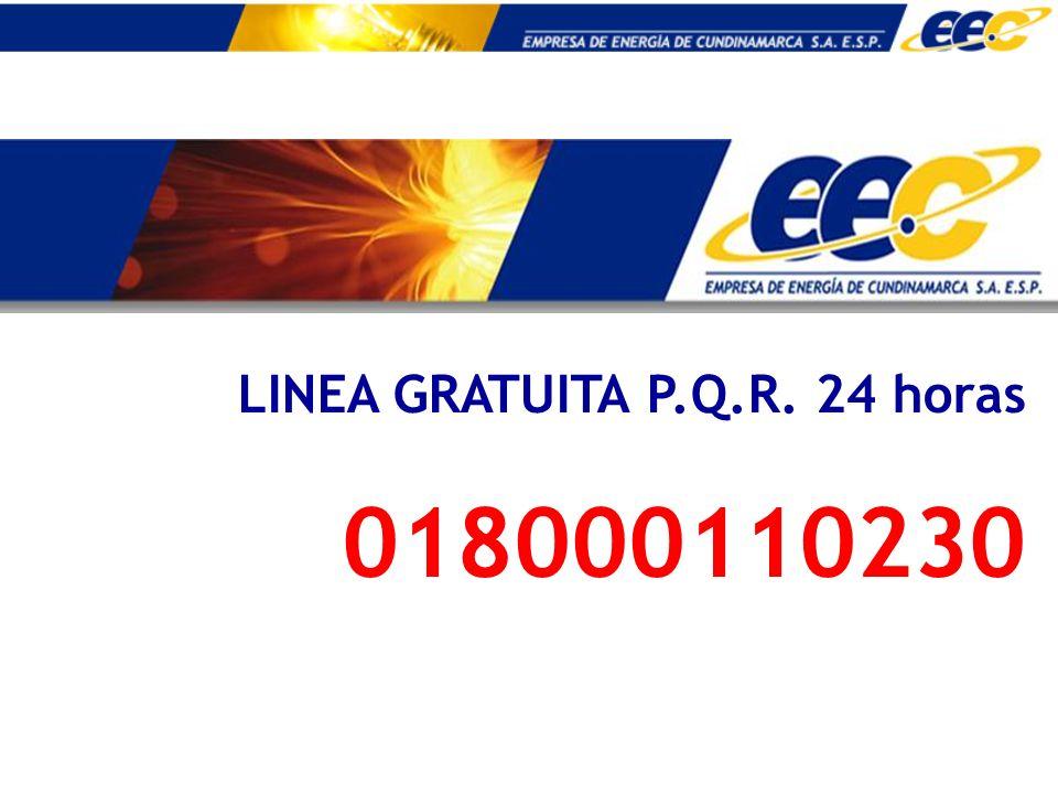 LINEA GRATUITA P.Q.R. 24 horas 018000110230