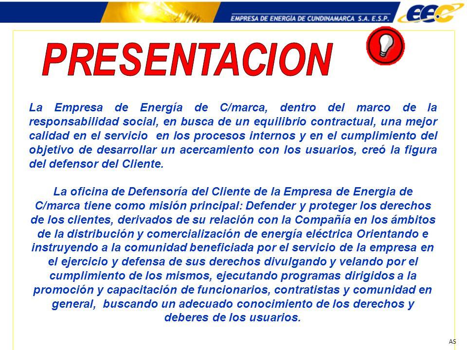 AS La Empresa de Energía de C/marca, dentro del marco de la responsabilidad social, en busca de un equilibrio contractual, una mejor calidad en el ser