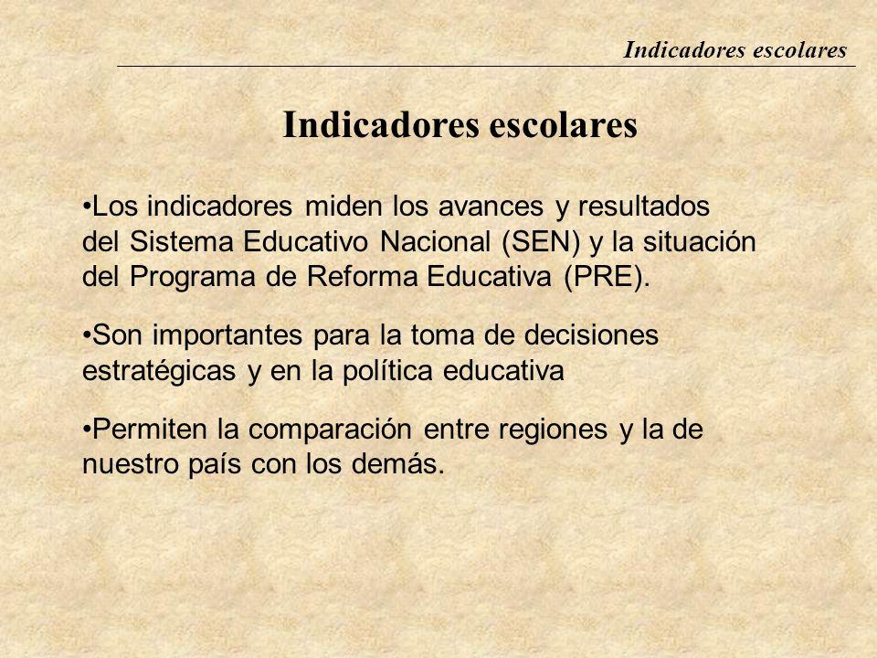 Indicadores escolares Fuentes de información Instituciones productoras de información en educación Censos y encuestas Instituto Nacional de Estadístic