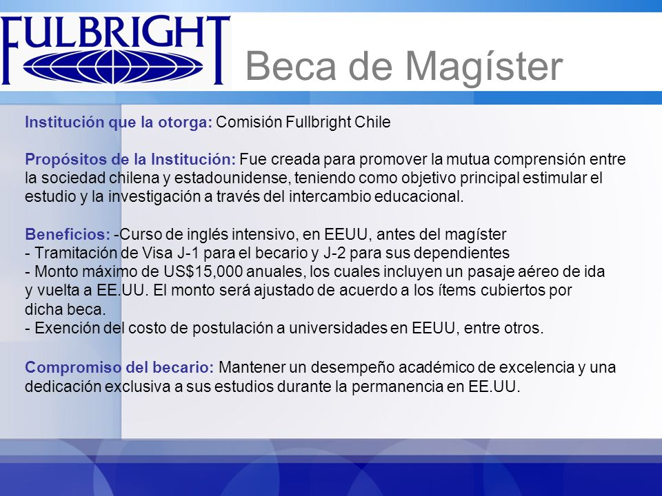 - Iniciar estudios antes de Septiembre de 2012.