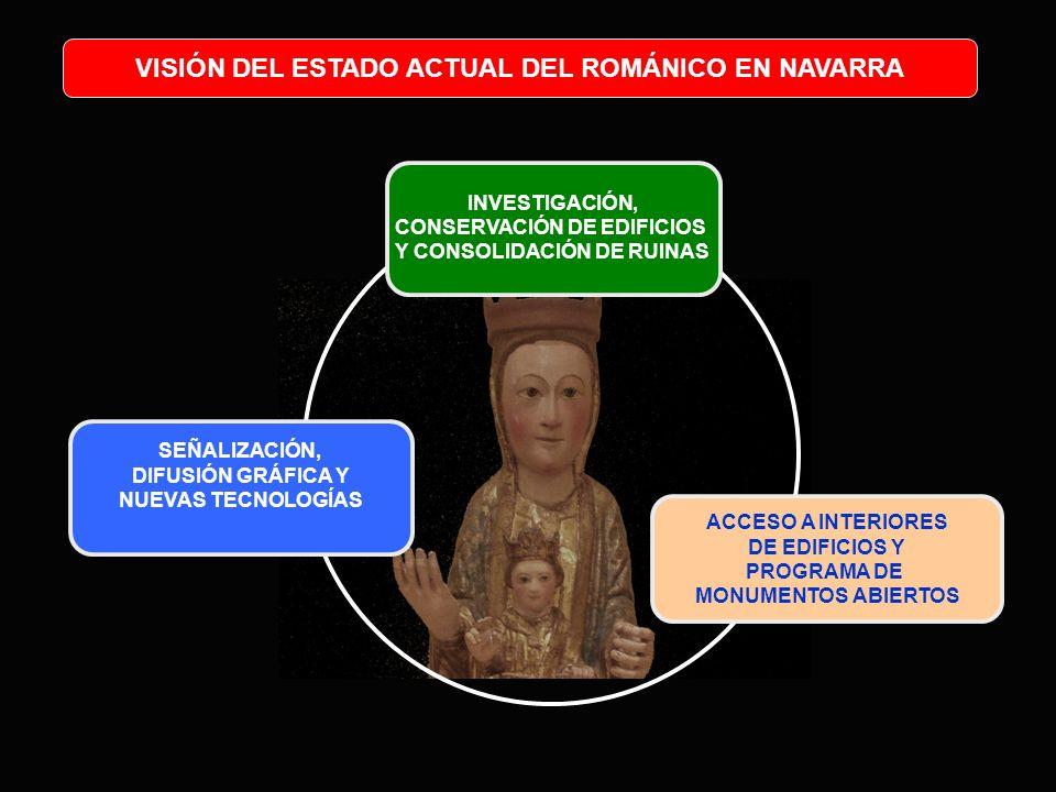 VISIÓN DEL ESTADO ACTUAL DEL ROMÁNICO EN NAVARRA INVESTIGACIÓN, CONSERVACIÓN DE EDIFICIOS Y CONSOLIDACIÓN DE RUINAS ACCESO A INTERIORES DE EDIFICIOS Y