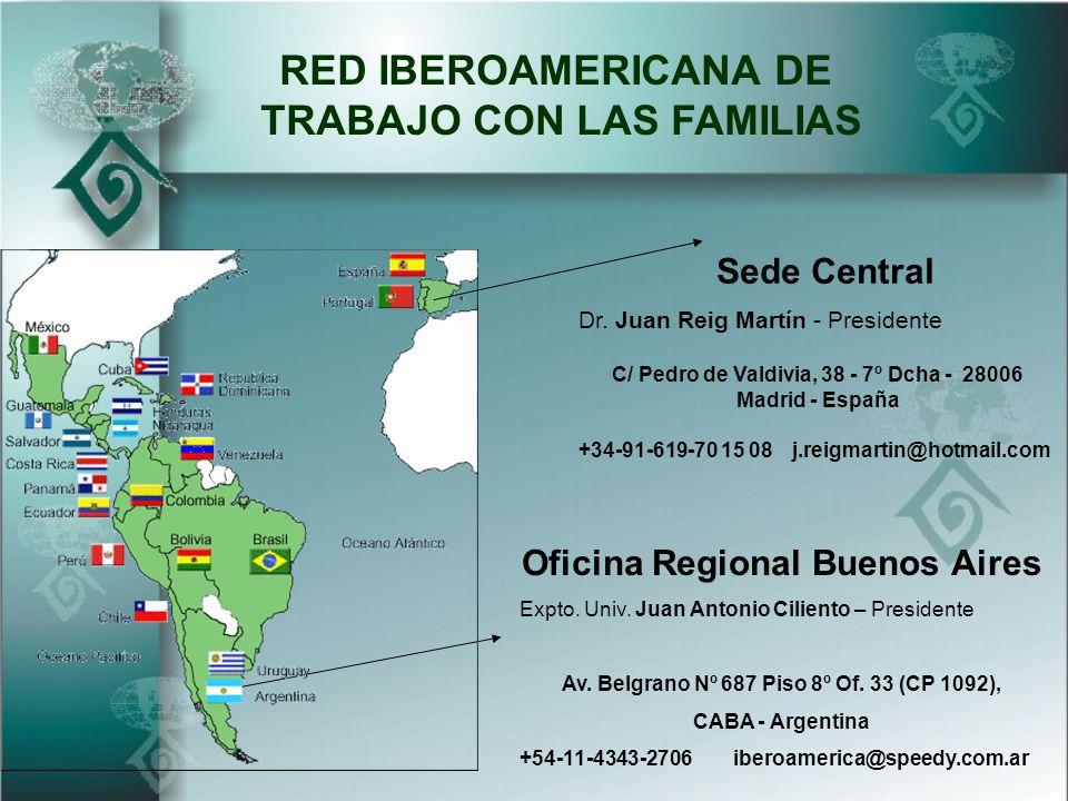RED IBEROAMERICANA DE TRABAJO CON LAS FAMILIAS Sede Central Oficina Regional Buenos Aires Expto.