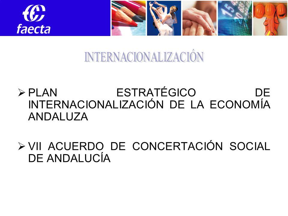 PLAN ESTRATÉGICO DE INTERNACIONALIZACIÓN DE LA ECONOMÍA ANDALUZA VII ACUERDO DE CONCERTACIÓN SOCIAL DE ANDALUCÍA