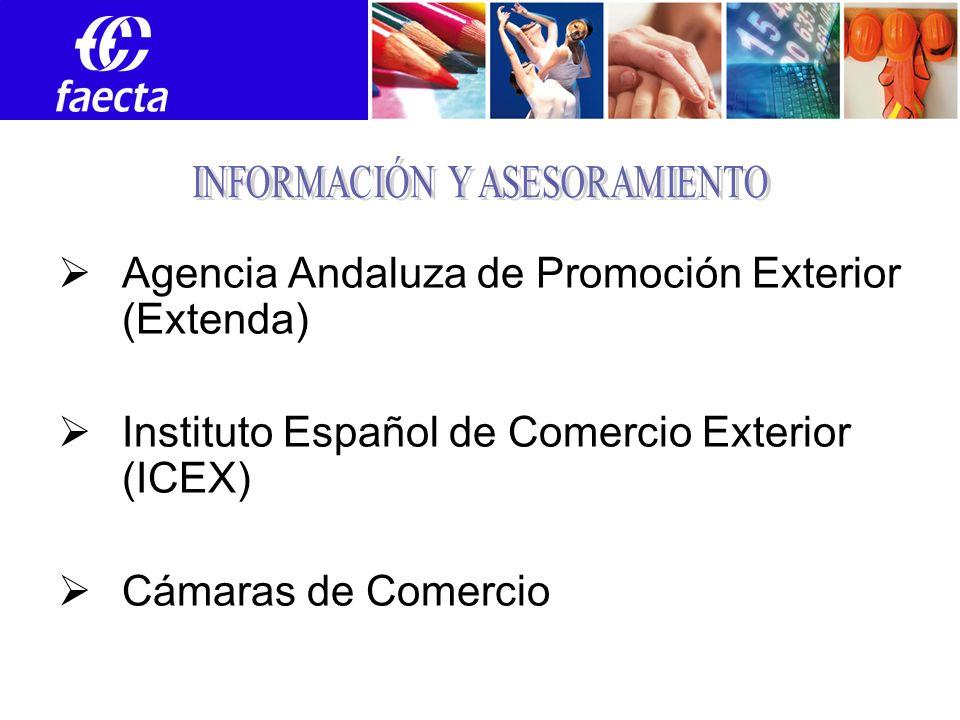 EXTENDA ANDALUCÍA 21 oficinas en 19 países Asesoramiento personalizado Subvenciones (Orden) Formación Red de Profesionales (EXTENDAPLUS) Oportunidades de Negocio