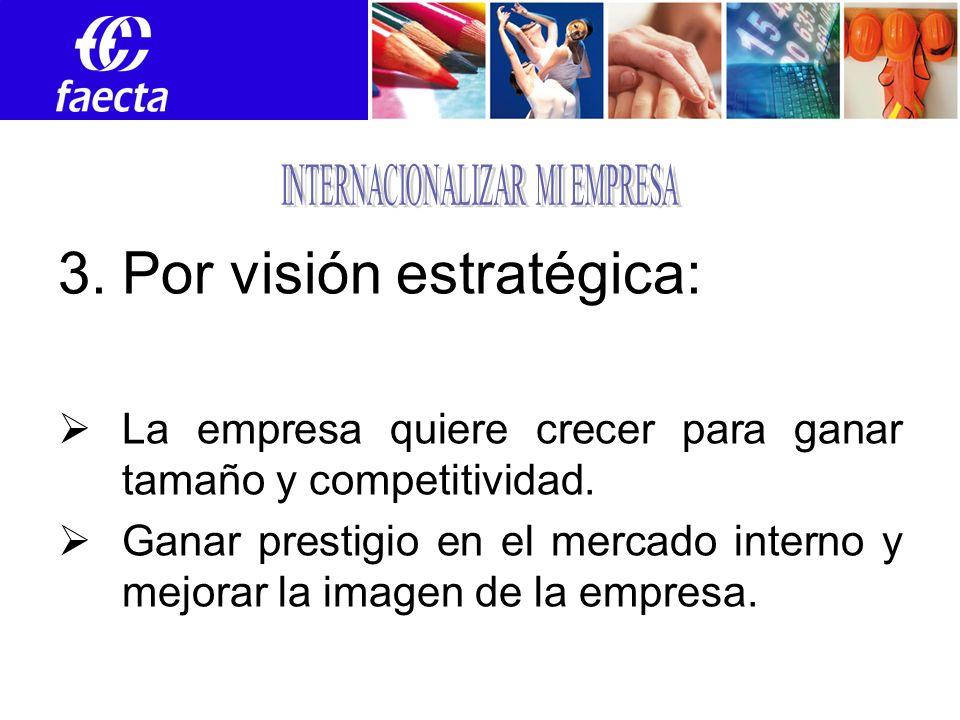 3.Por visión estratégica: La empresa quiere crecer para ganar tamaño y competitividad.