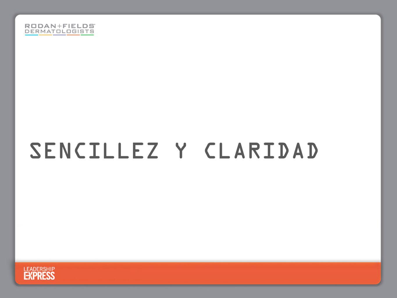 SENCILLEZ Y CLARIDAD