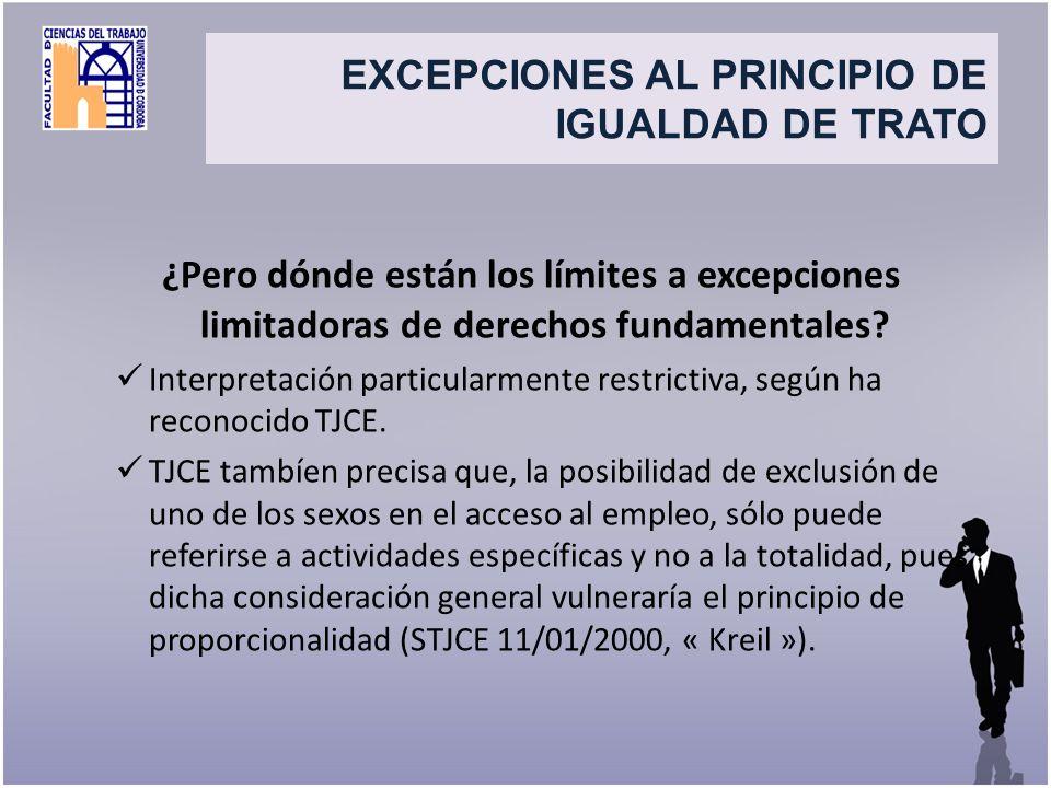 Title ¿Pero dónde están los límites a excepciones limitadoras de derechos fundamentales? Interpretación particularmente restrictiva, según ha reconoci