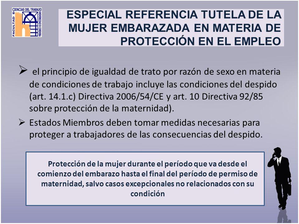 Title el principio de igualdad de trato por razón de sexo en materia de condiciones de trabajo incluye las condiciones del despido (art. 14.1.c) Direc