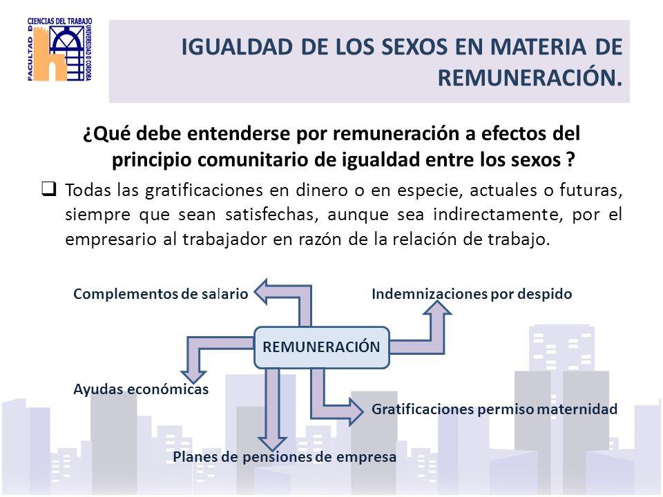 Title el principio de igualdad de trato por razón de sexo en materia de condiciones de trabajo incluye las condiciones del despido (art.