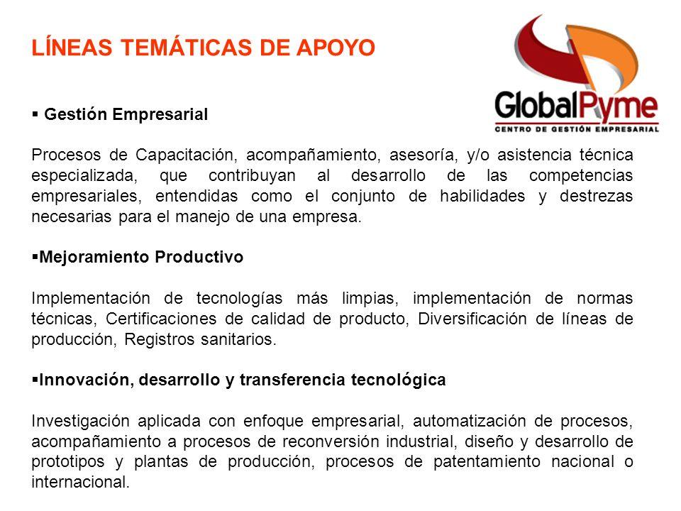 Gestión Empresarial Procesos de Capacitación, acompañamiento, asesoría, y/o asistencia técnica especializada, que contribuyan al desarrollo de las com