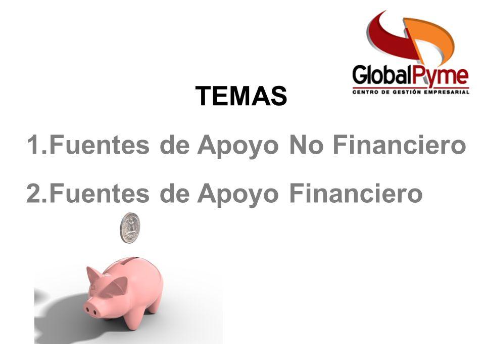 TEMAS 1.Fuentes de Apoyo No Financiero 2.Fuentes de Apoyo Financiero