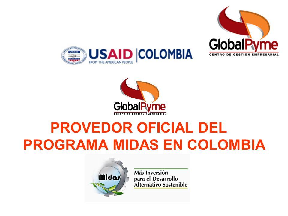 PROVEDOR OFICIAL DEL PROGRAMA MIDAS EN COLOMBIA