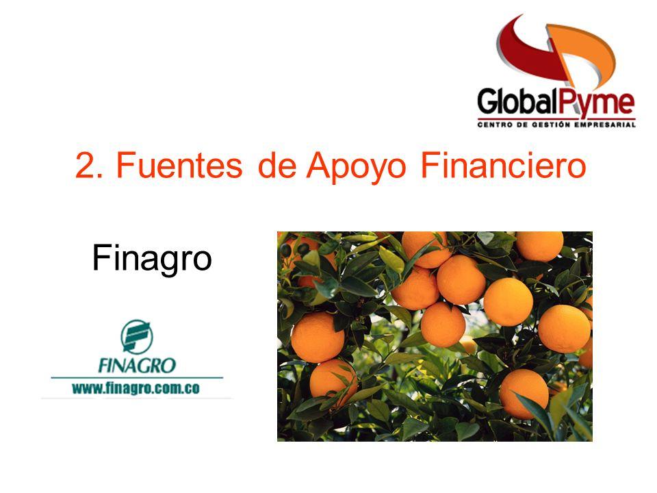 2. Fuentes de Apoyo Financiero Finagro