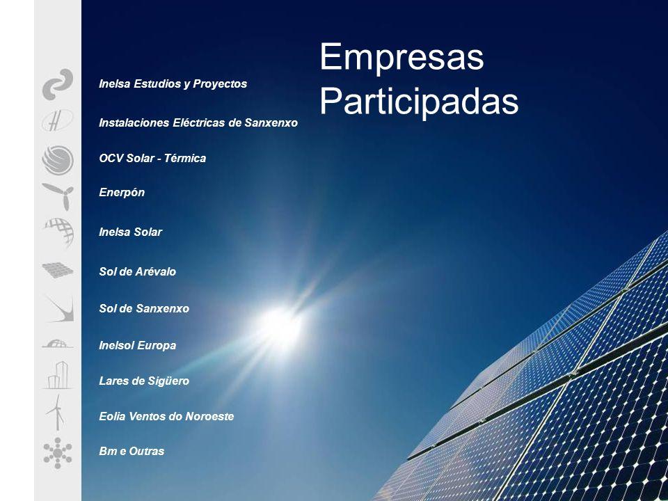 Empresas Participadas Inelsa Estudios y Proyectos Instalaciones Eléctricas de Sanxenxo OCV Solar - Térmica Enerpón Inelsa Solar Sol de Arévalo Sol de